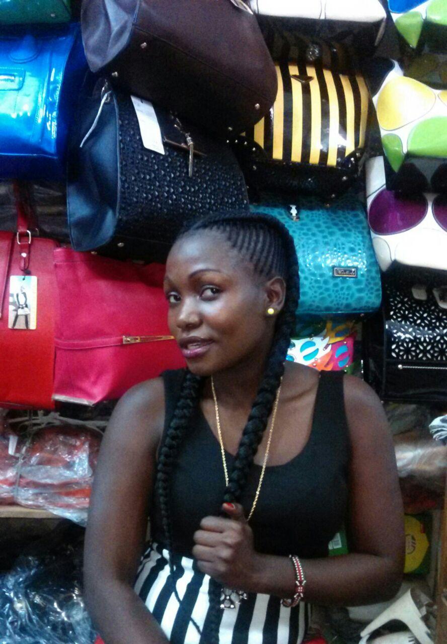 Sharon in her shop