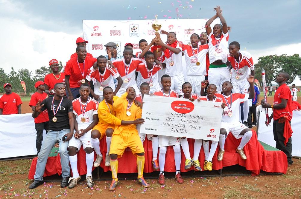 Young Simba (Western winners - boys) celebrate their win.