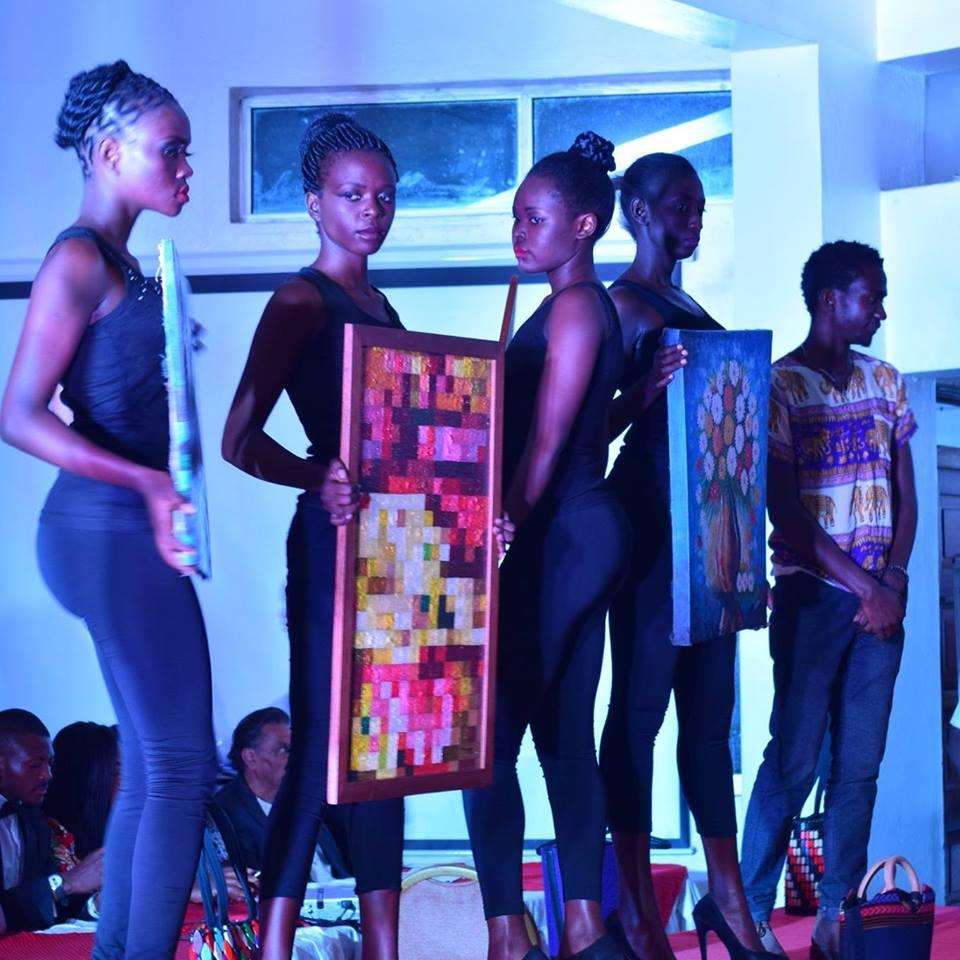 Kalule's art pieces during a recent art exhibition