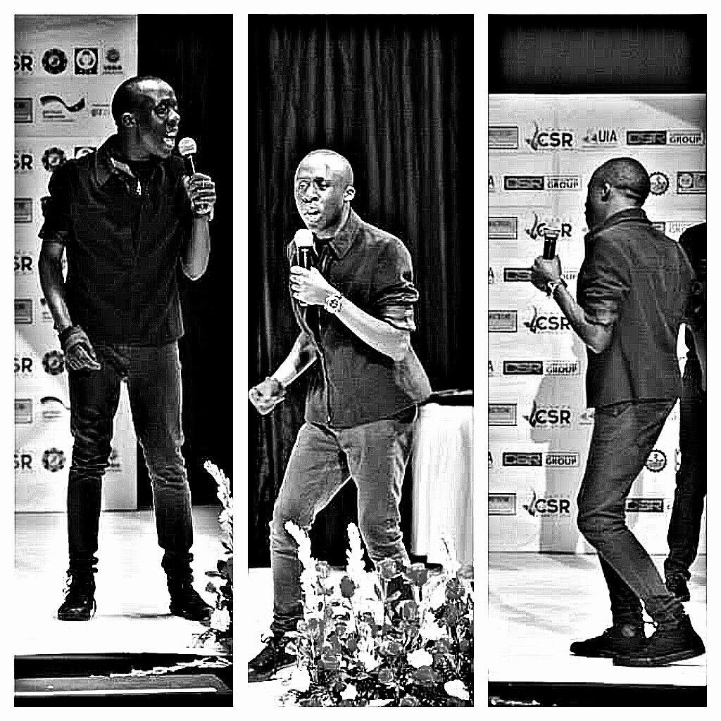 Performing at CSR awards in Serena