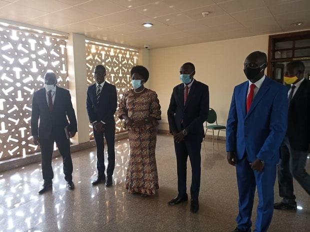 LDC Guild President, Alex Nuwahereza and the Speaker of Parliament Rt Hon. Rebecca Kadaga