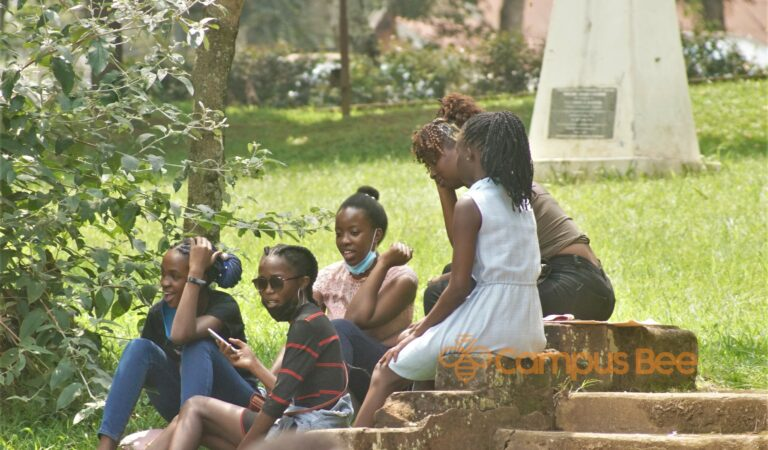 PHOTOS: Makerere University Freshers Spotted Languishing on Campus Premises